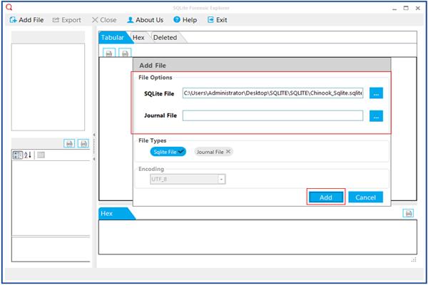SQLite Database Reader