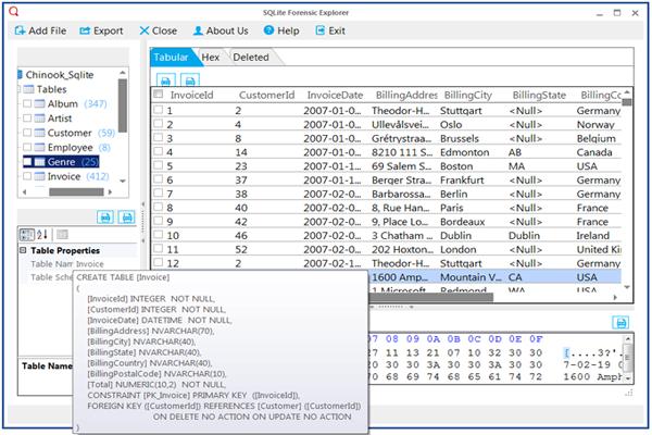 SQLite Database Viewer