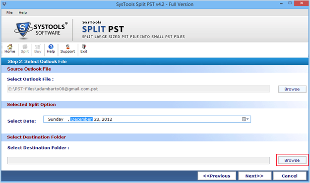 How to Split .PST File Size