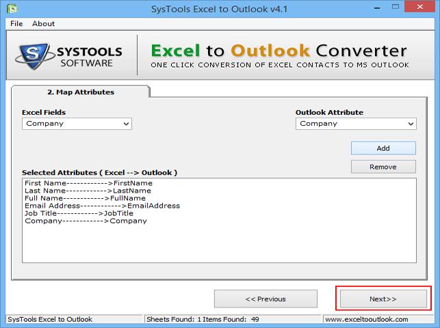 Convert XLS to Outlook