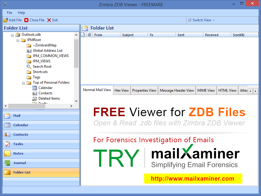 ZDB File Reader full screenshot